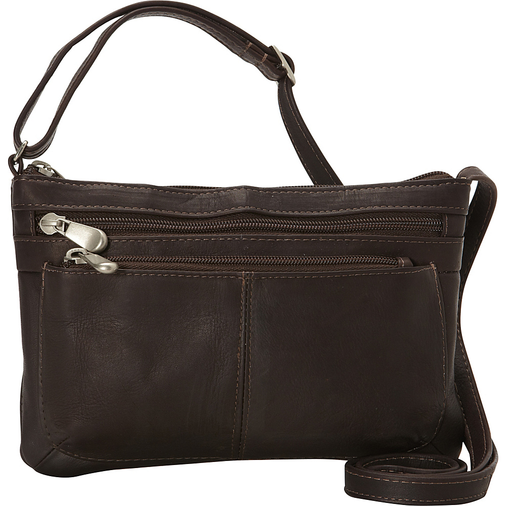 Le Donne Leather Waverly Crossbody Cafe - Le Donne Leather Leather Handbags - Handbags, Leather Handbags