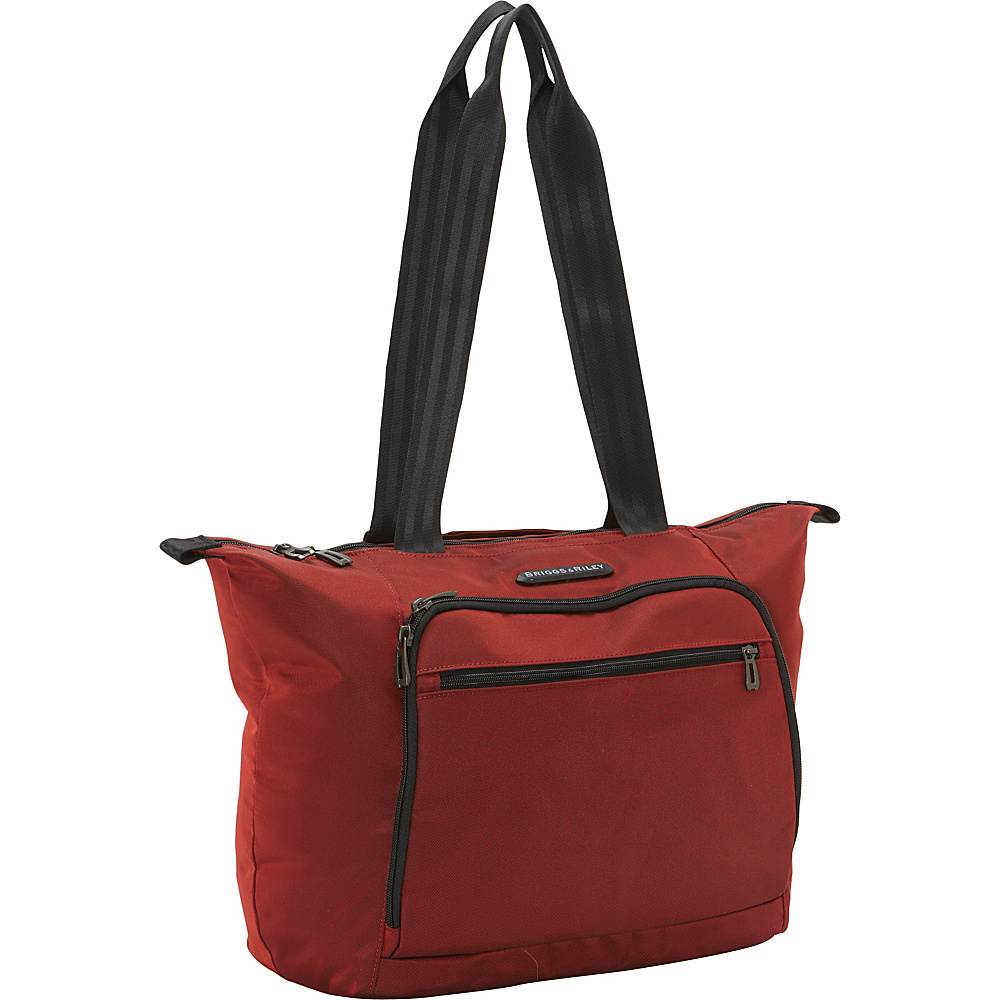 Briggs Riley Transcend 300 Shopping Tote Crimson Briggs Riley Luggage Totes and Satchels