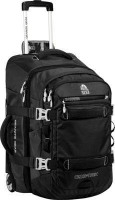Granite Gear Cross- Trek Convertible Wheeled Carry-On with Removable 28L Pack Black/Chromium - Granite Gear Rolling Backpacks