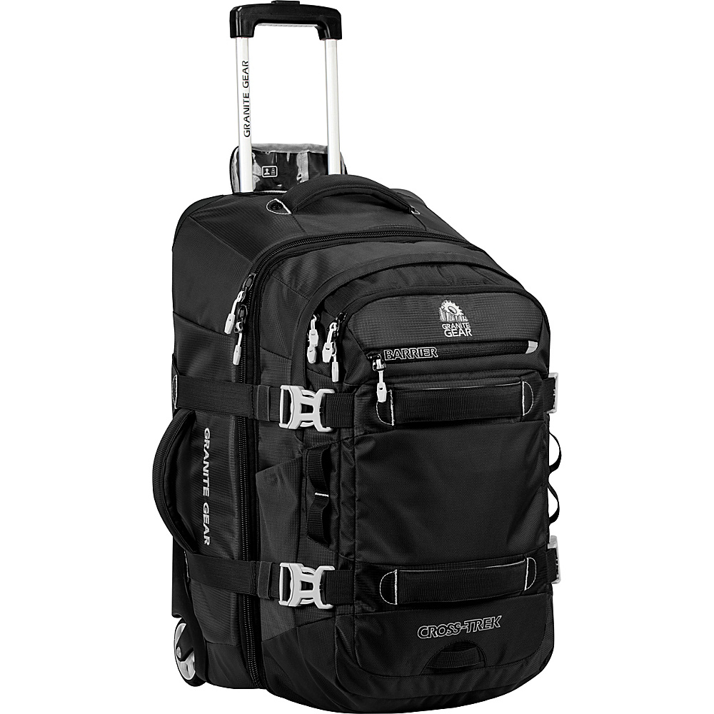 Granite Gear Cross Trek Convertible Wheeled Carry On with Removable 28L Pack Black Chromium Granite Gear Rolling Backpacks