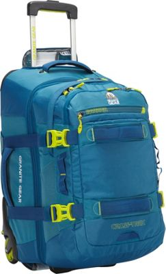 Granite Gear Cross- Trek Convertible Wheeled Carry-On with Removable 28L Pack Bleumine/Blue Frost/Neolime - Granite Gear Rolling Backpacks