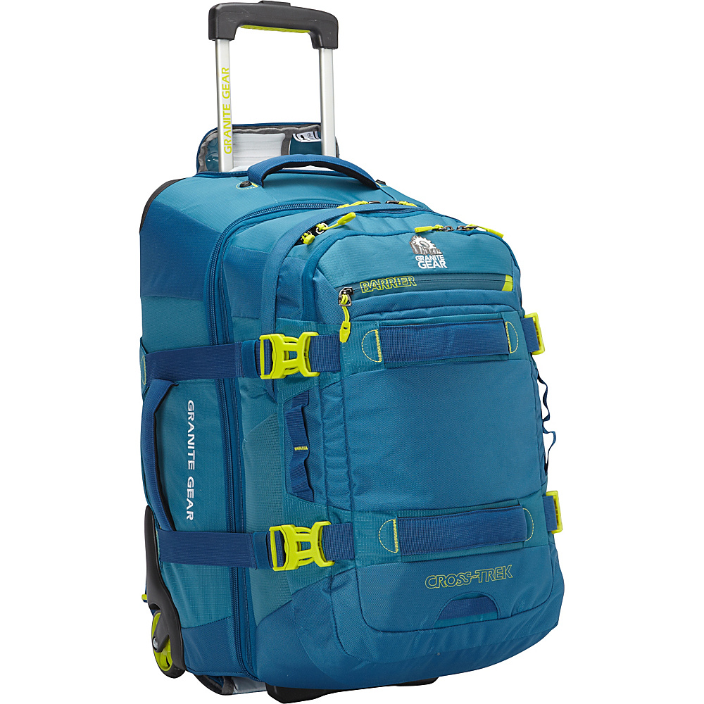 Granite Gear Cross Trek Convertible Wheeled Carry On with Removable 28L Pack Bleumine Blue Frost Neolime Granite Gear Rolling Backpacks