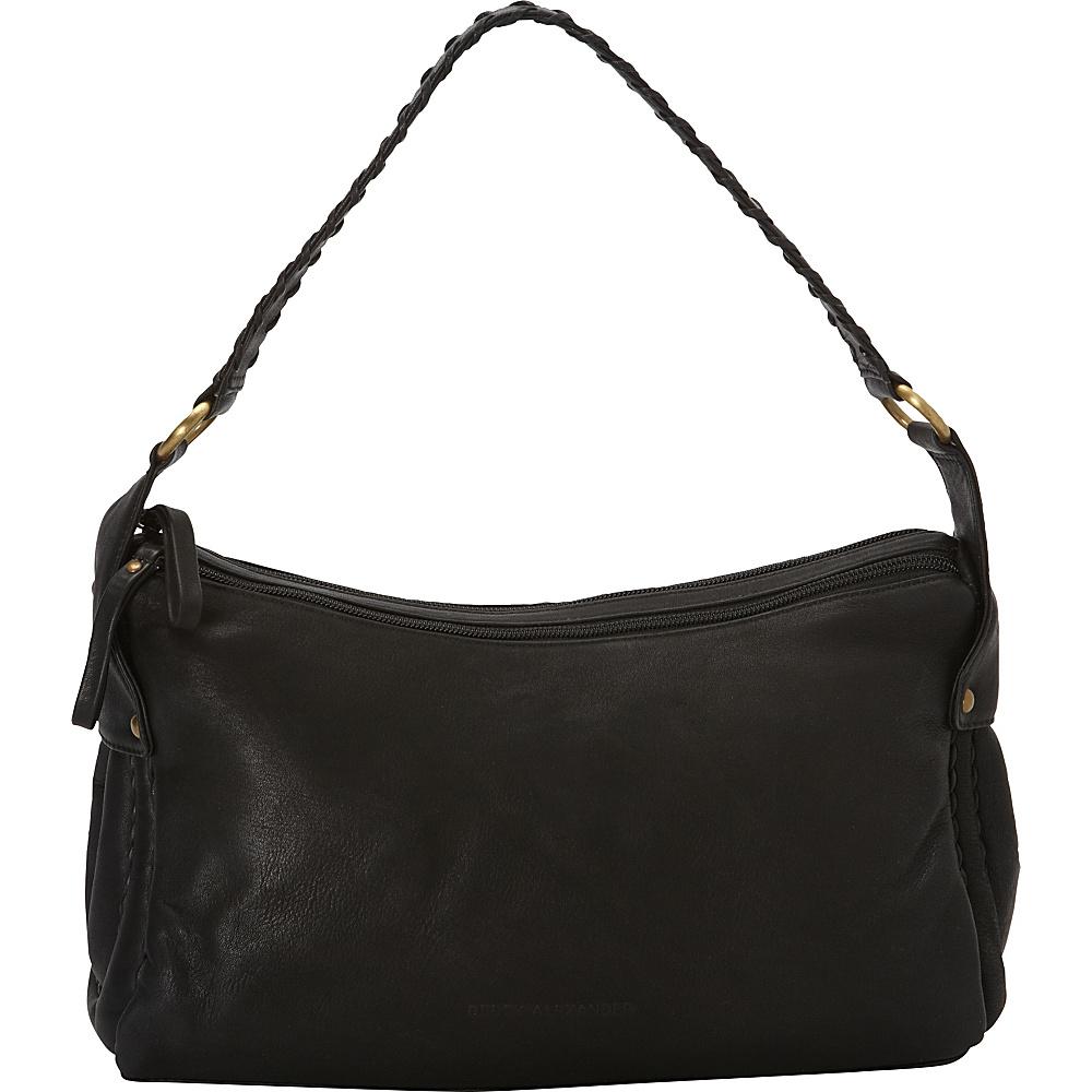 Derek Alexander EW Top Zip Shoulder Bag Black - Derek Alexander Leather Handbags - Handbags, Leather Handbags