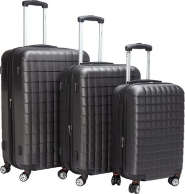 McBrine Luggage Eco friendly 3Pc Hardside Luggage Set Gre...