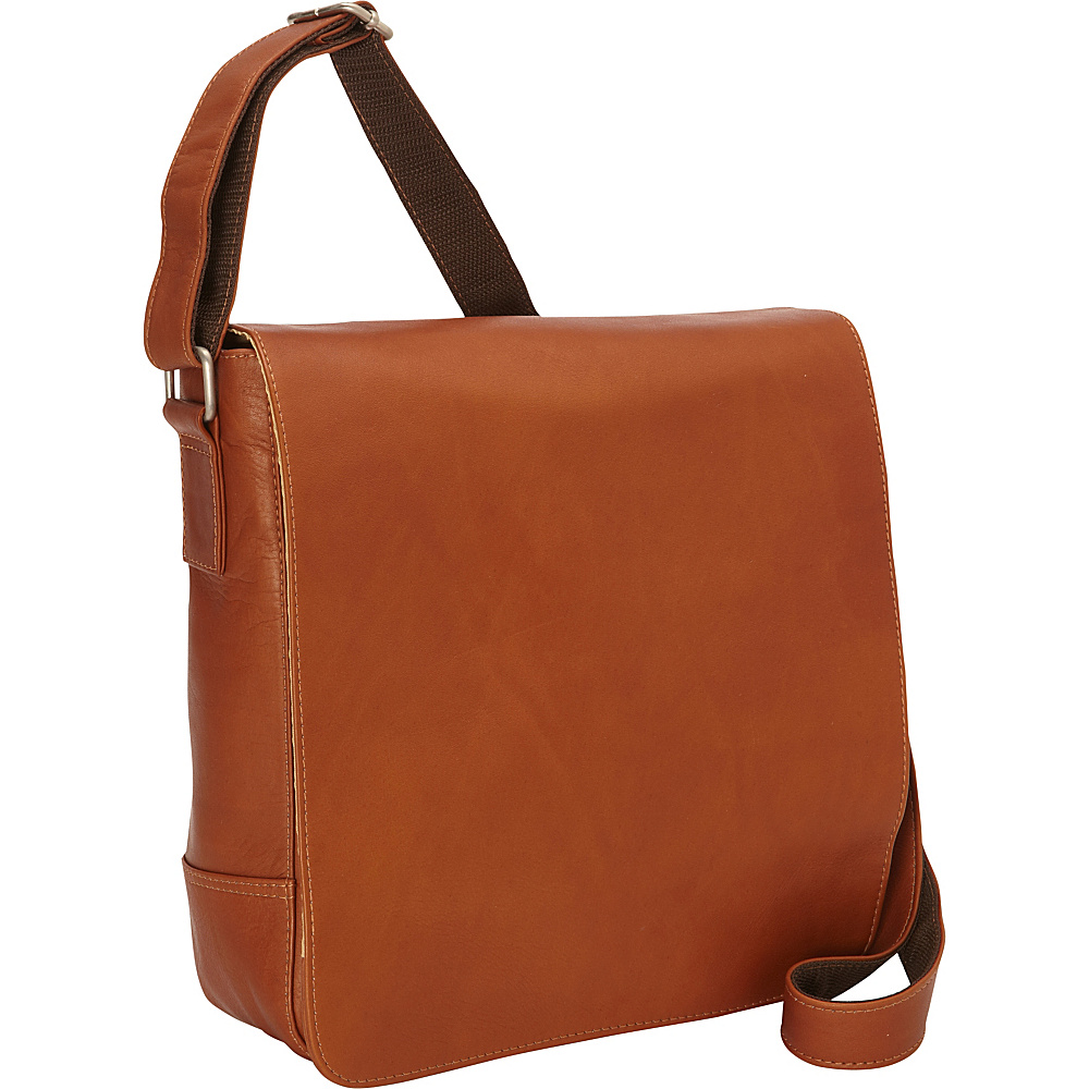 Piel Small Tablet Vertical Messenger Saddle - Piel Messenger Bags - Work Bags & Briefcases, Messenger Bags