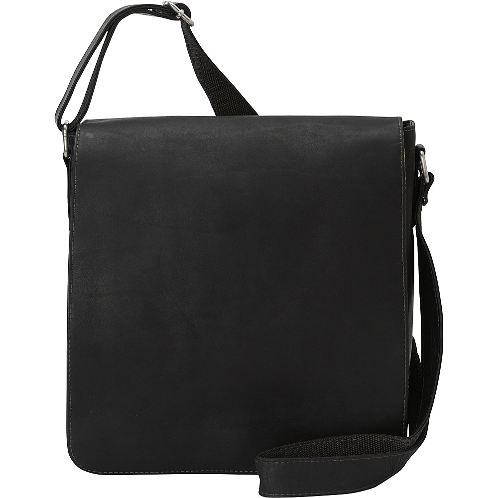 Piel Small Tablet Vertical Messenger Black - Piel Messenger Bags - Work Bags & Briefcases, Messenger Bags