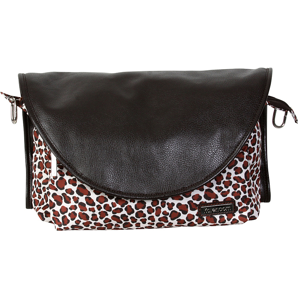 Kalencom Sidekick Diaper Messenger Bag Safari Cheetah Kalencom Diaper Bags Accessories