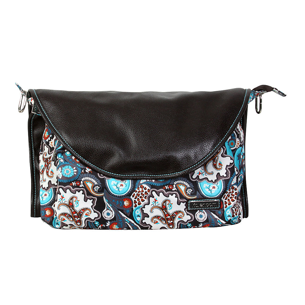 Kalencom Sidekick Diaper Messenger Bag Safari Paisley Kalencom Diaper Bags Accessories