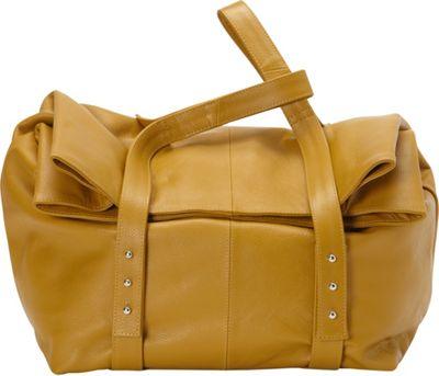 Sharo Leather Bags Oversized Handheld Satchel Burnt Mustard - Sharo Leather Bags Leather Handbags