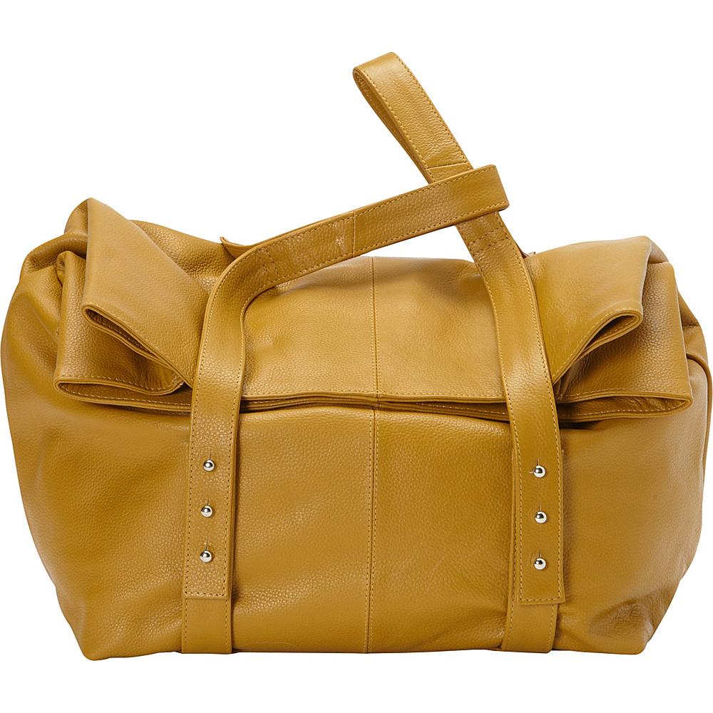 Sharo Leather Bags Oversized Handheld Satchel Burnt Mustard Sharo Leather Bags Leather Handbags