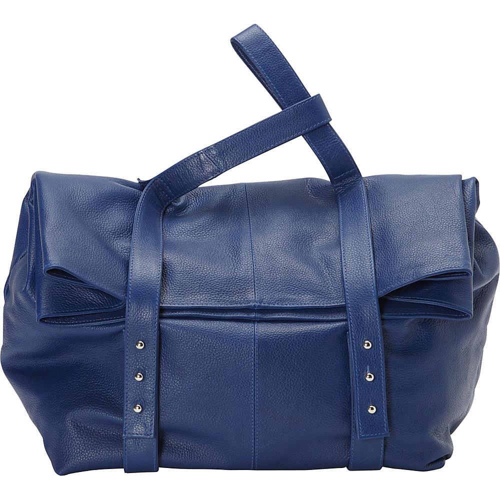 Sharo Leather Bags Oversized Handheld Satchel Blue Sharo Leather Bags Leather Handbags