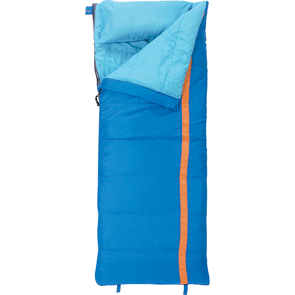 Slumberjack Cub 40 Degree Boys Short Right Hand Sleeping Bag Blue Slumberjack Outdoor Accessories