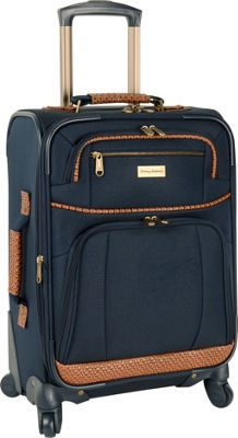 Tommy Bahama Mojito 20 inch Expandable Spinner Navy - Tommy Bahama Softside Carry-On