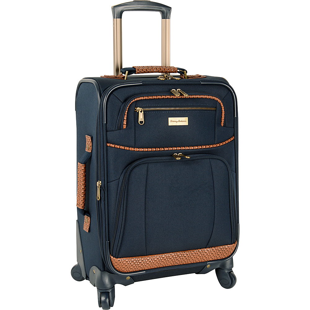 Tommy Bahama Mojito 20  Expandable Spinner Navy - Tommy Bahama Softside Carry-On Mojito 20  Expandable Spinner Navy. A classic and well-made Tommy Bahama luggage piece that is ideally suited for all of your vacation and travel needs.