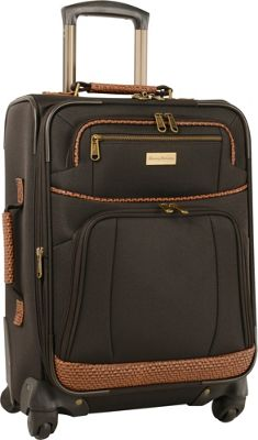 Tommy Bahama Mojito 20 inch Expandable Spinner Dark Brown - Tommy Bahama Softside Carry-On