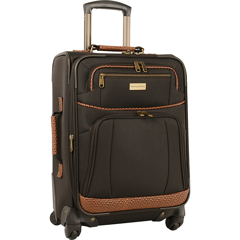 Tommy Bahama Mojito 20  Expandable Spinner Dark Brown - Tommy Bahama Softside Carry-On Mojito 20  Expandable Spinner Dark Brown. A classic and well-made Tommy Bahama luggage piece that is ideally suited for all of your vacation and travel needs.
