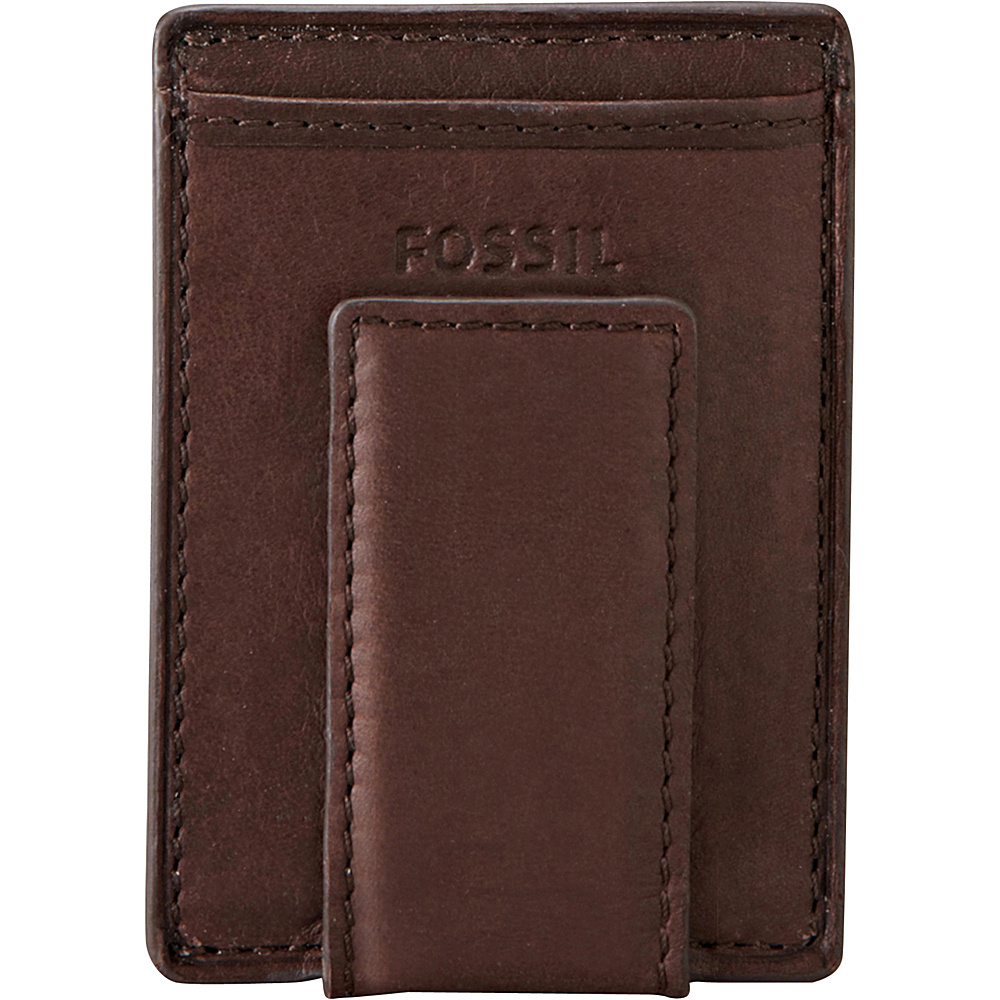 Fossil Ingram Magnetic Multicard Wallet Brown - Fossil Mens Wallets - Work Bags & Briefcases, Men's Wallets