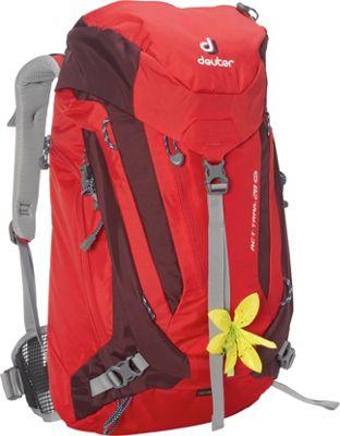 Deuter ACT Trail 28 SL Hiking Backpack Fire/Aubergine - Deuter Day Hiking Backpacks