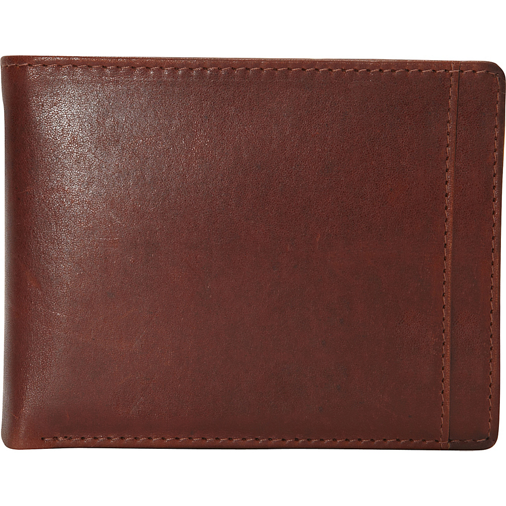 Mancini Leather Goods Mens RFID Billfold with Removable Passcase Cognac Mancini Leather Goods Men s Wallets