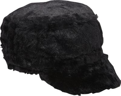 Magid Faux Fur Baseball Cap Black - Magid Hats/Gloves/Scarves 10340518