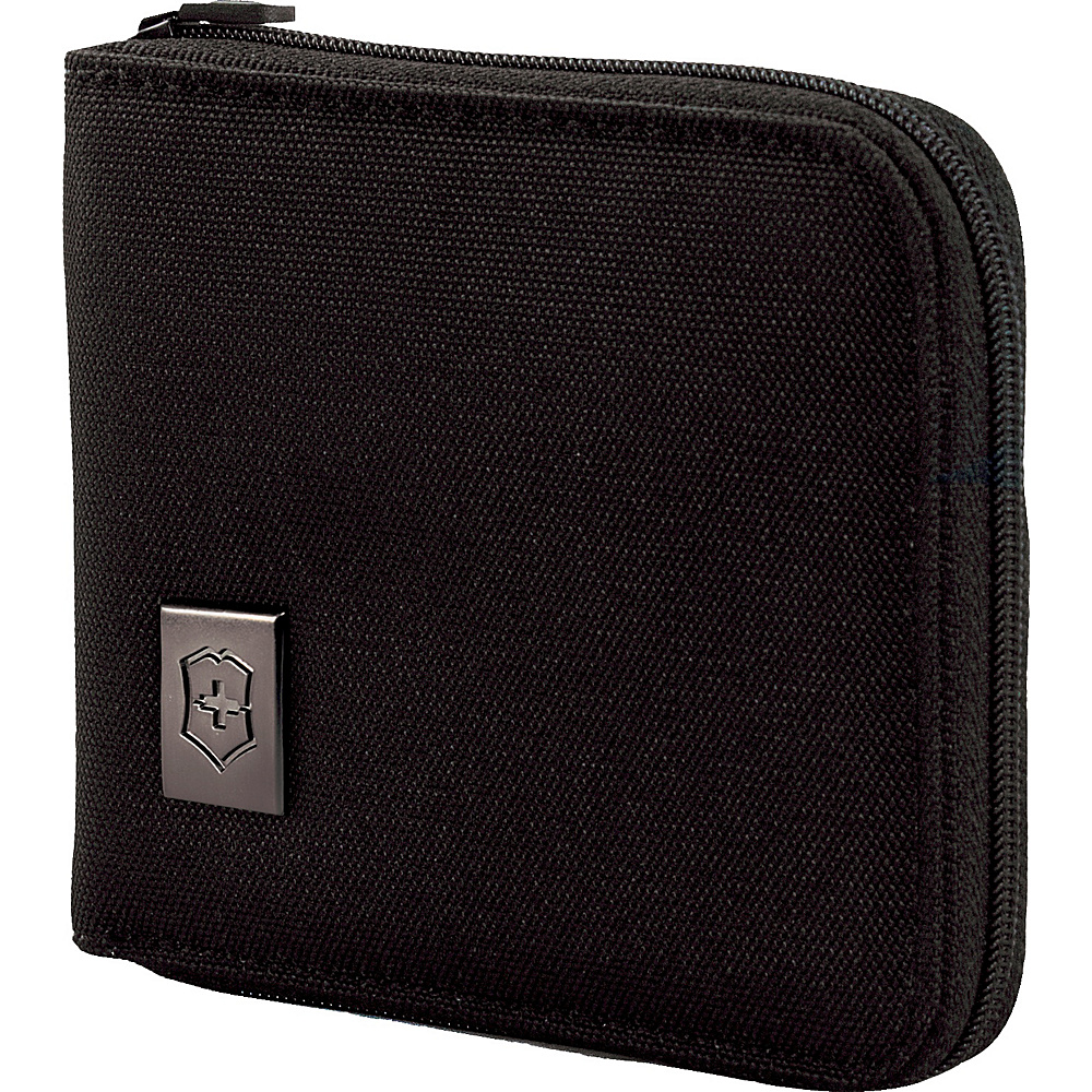 Victorinox Lifestyle Accessories 4.0 Zip-Around Wallet Black - Victorinox Mens Wallets