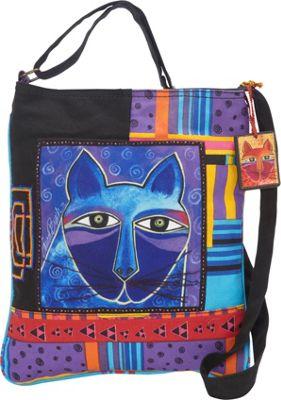 Laurel Burch Whiskered Cats Crossbody Multi - Laurel Burch Fabric Handbags