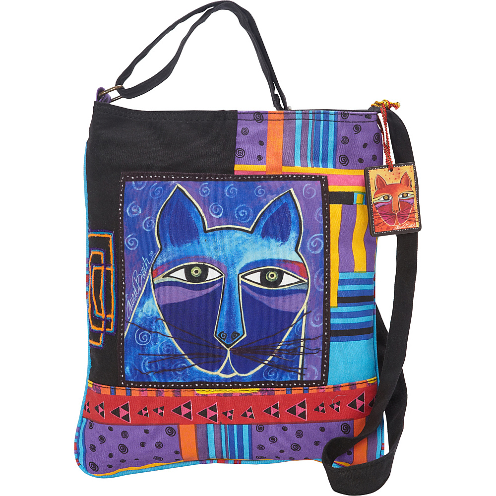 Laurel Burch Whiskered Cats Crossbody Multi Laurel Burch Fabric Handbags