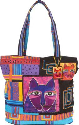 Laurel Burch Whiskered Cats Shoulder Bag Multi - Laurel Burch Fabric Handbags