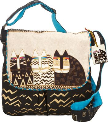 Laurel Burch Wild Cats Crossbody Multi - Laurel Burch Fabric Handbags