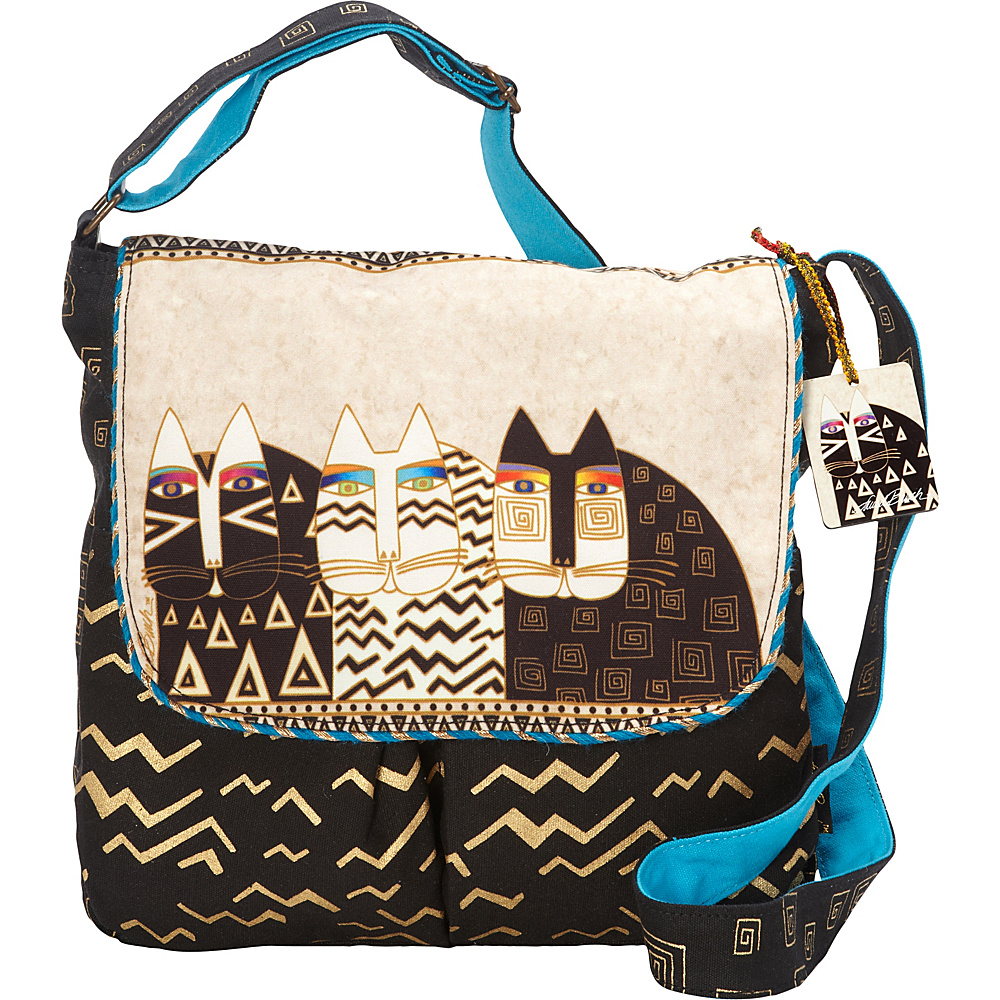 Laurel Burch Wild Cats Crossbody Multi Laurel Burch Fabric Handbags