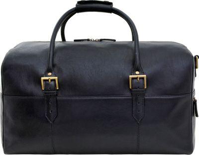 Hidesign Charles Leather Cabin Travel Duffle Weekend Bag Black - Hidesign Travel Duffels