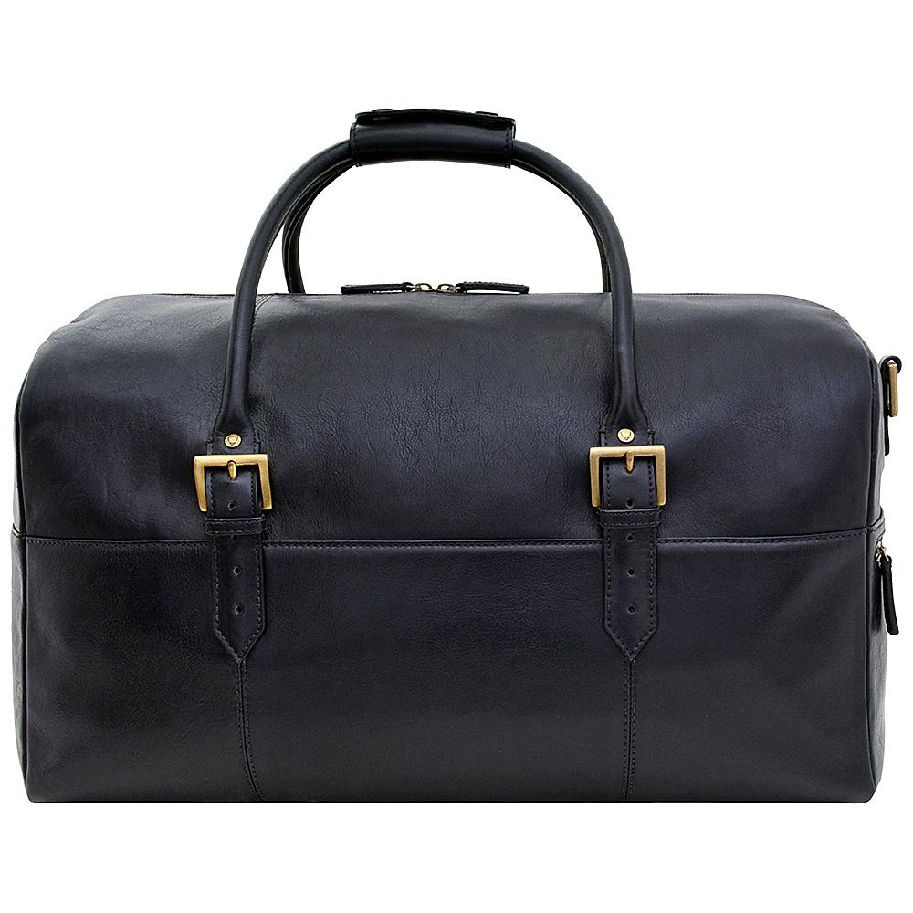 Hidesign Charles Leather Cabin Travel Duffle Weekend Bag Black Hidesign Travel Duffels