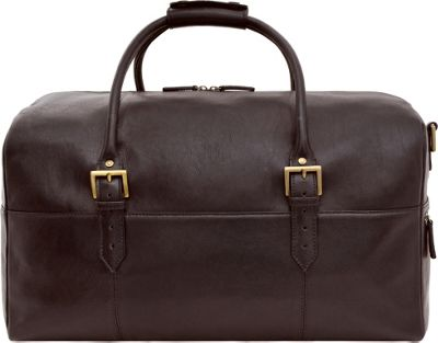 Hidesign Charles Leather Cabin Travel Duffle Weekend Bag Brown - Hidesign Travel Duffels