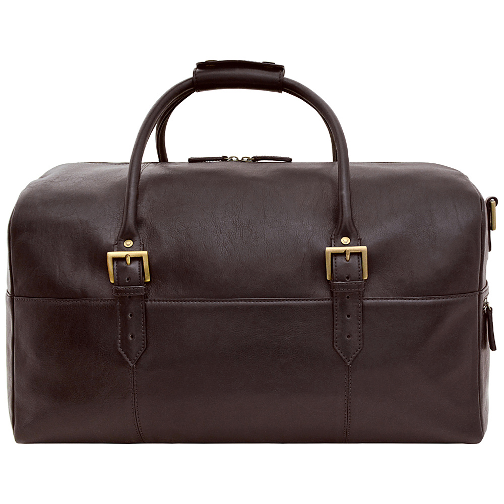 Hidesign Charles Leather Cabin Travel Duffle Weekend Bag Brown - Hidesign Travel Duffels