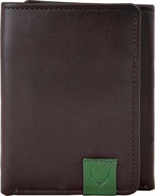 Hidesign Dylan Compact Trifold Leather Wallet with ID Window Black - Hidesign Men's Wallets