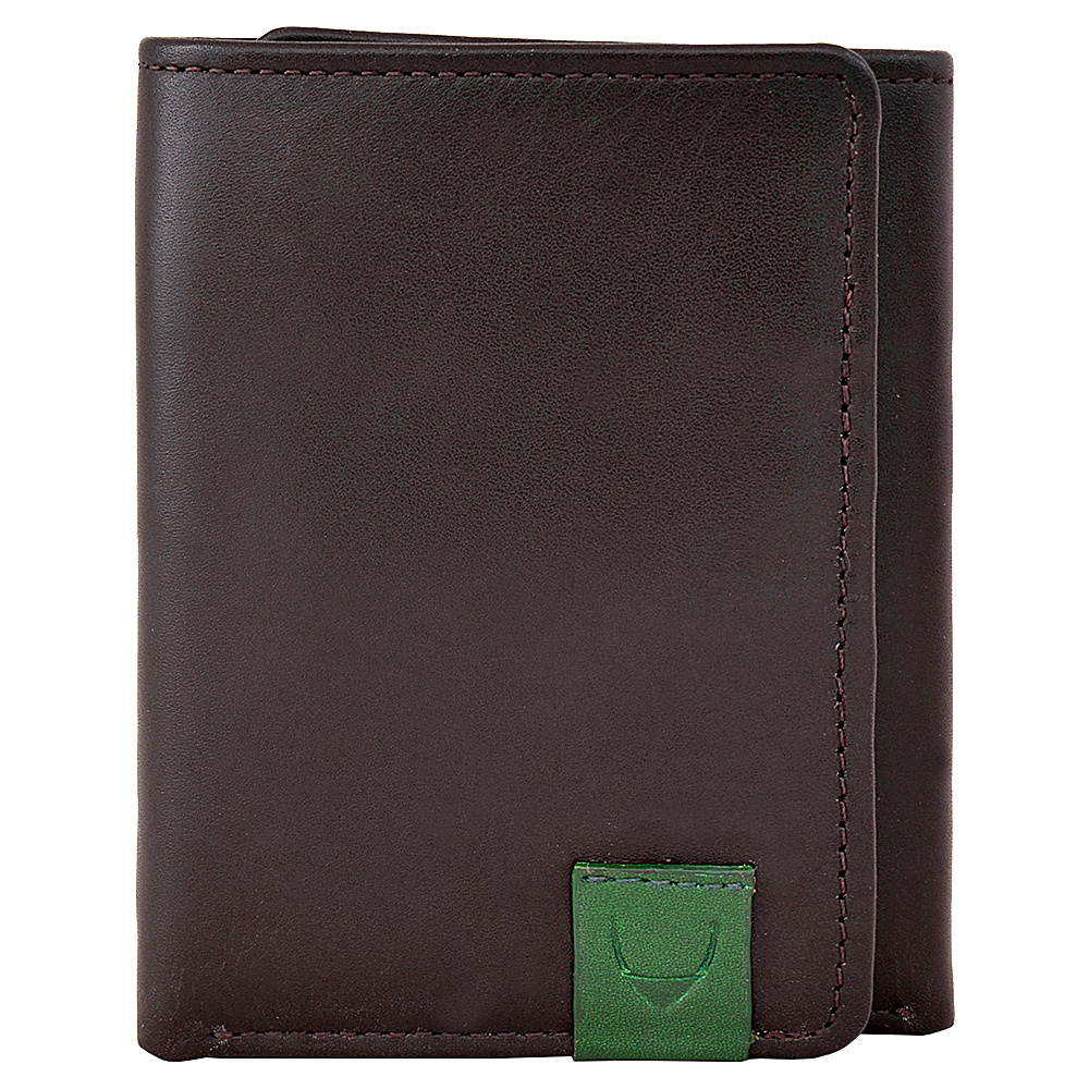 Hidesign Dylan Compact Trifold Leather Wallet with ID Window Black Hidesign Men s Wallets