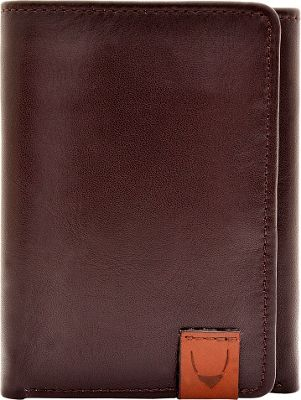 Hidesign Dylan Compact Trifold Leather Wallet with ID Window Brown - Hidesign Men's Wallets