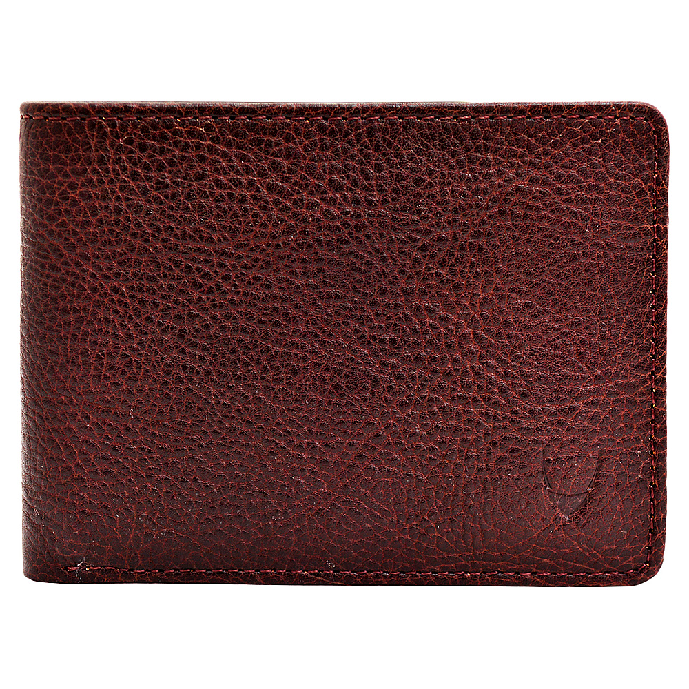 Hidesign Giles Vegetable Tanned Leather Trifold Wallet with Multiple Compartments Brown Hidesign Men s Wallets