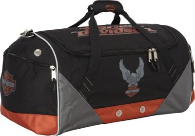 Harley Davidson by Athalon Sport & Travel Duffel Black - Harley Davidson by Athalon Travel Duffels