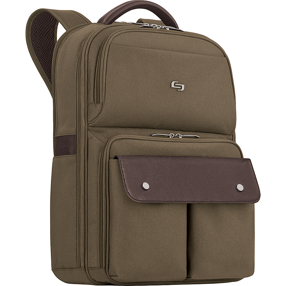SOLO Executive 15.6 Laptop Backpack Khaki SOLO Business Laptop Backpacks