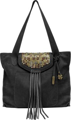 Lucky Brand Metal Works Tote Black - Lucky Brand Leather Handbags