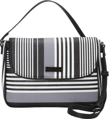 Vera Bradley Flap Crossbody Midnight Stripe - Vera Bradley Fabric Handbags