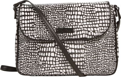 Vera Bradley Flap Crossbody Midnight Snake Skin - Vera Bradley Fabric Handbags
