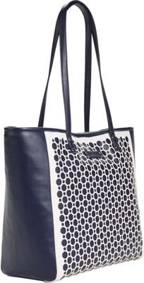 Vera Bradley Laser Cut Tote Navy Geometric - Vera Bradley Manmade Handbags