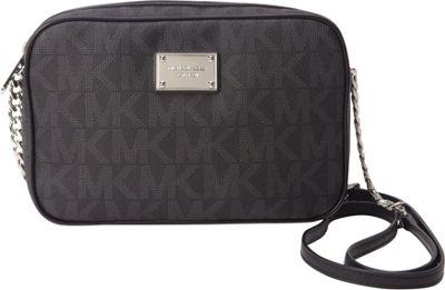MICHAEL Michael Kors Jet Set Large E/W Crossbody Black - MICHAEL Michael Kors Designer Handbags
