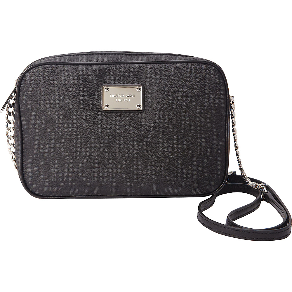 MICHAEL Michael Kors Jet Set Large E/W Crossbody Black - MICHAEL Michael Kors Designer Handbags