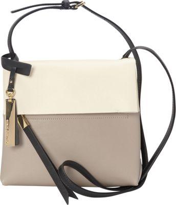 Vince Camuto Tyler Crossbody Driftwood/Ivory/Graphite - Vince Camuto Designer Handbags