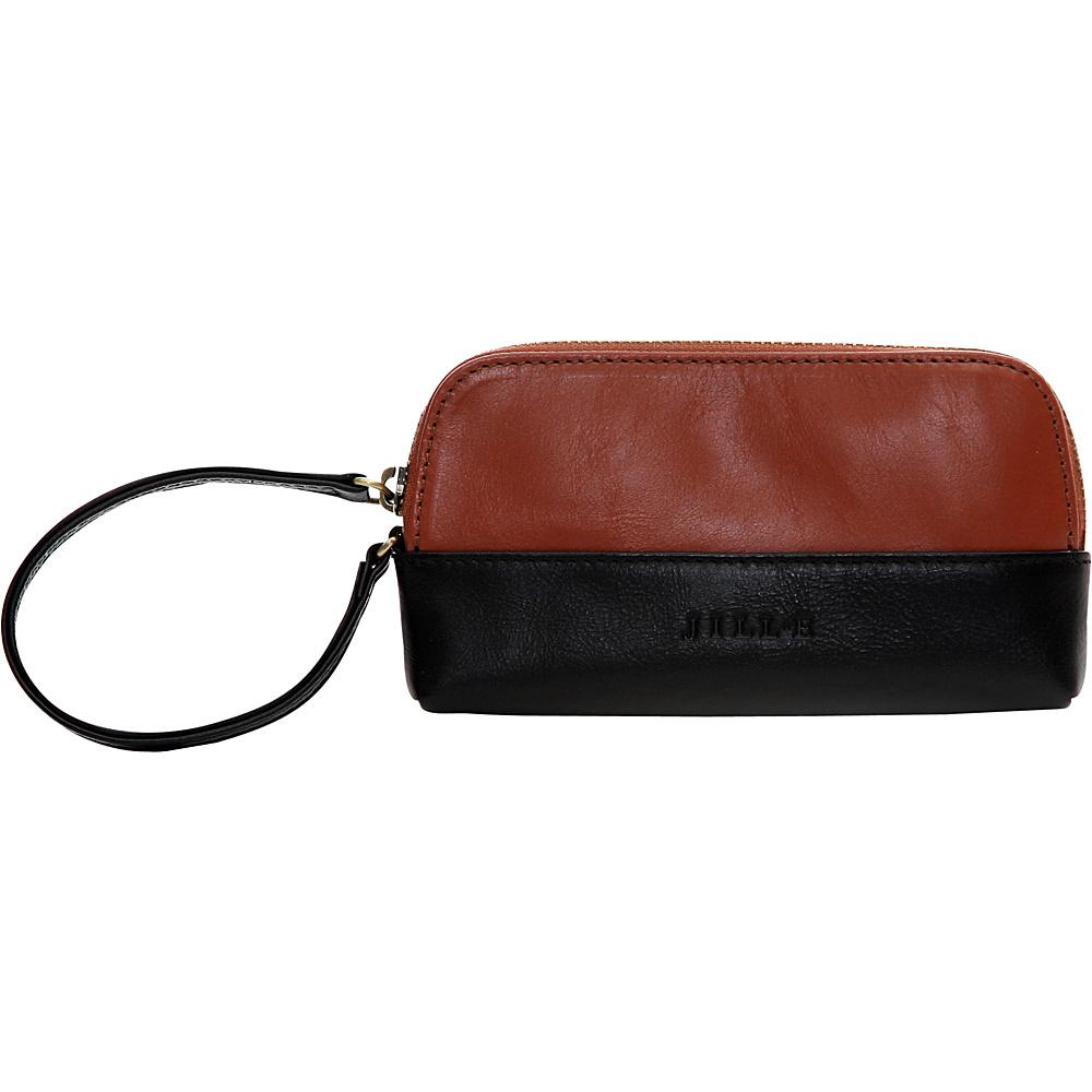 Jill e Designs Osceola Leather Smartphone Clutch Saddle Black Jill e Designs Women s Wallets