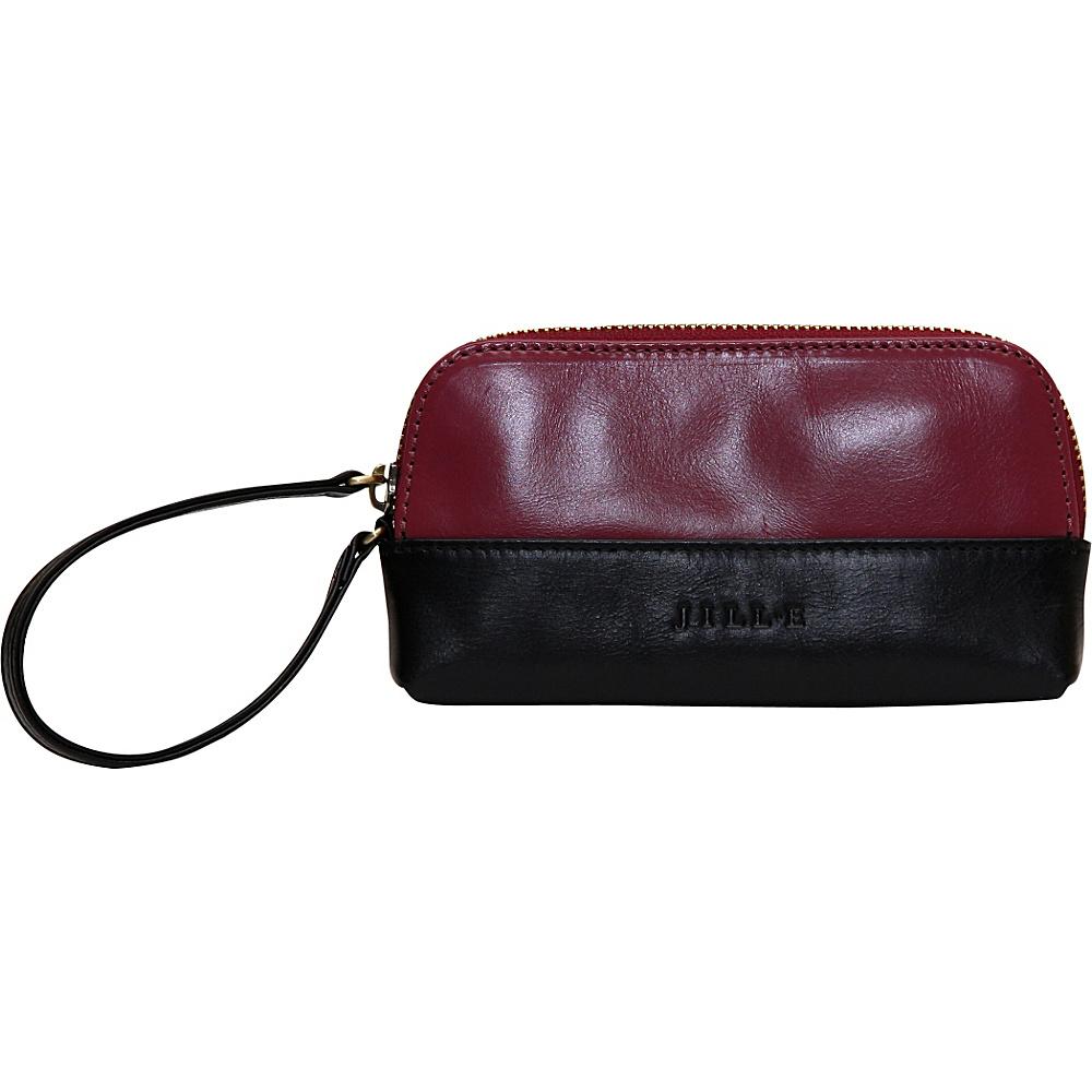 Jill e Designs Osceola Leather Smartphone Clutch Berry Black Jill e Designs Women s Wallets