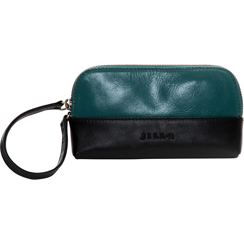 Jill e Designs Osceola Leather Smartphone Clutch Teal Black Jill e Designs Women s Wallets